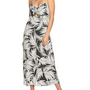 1state Knot Cutout Frond Halter Jumpsuit